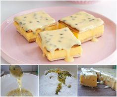 Recipes, DIY, Craft, Gardening, Crochet and Kids activities. Custard Slice, Fruit Custard, Delicious Desserts, Dessert Recipes, Dessert Ideas, South African Desserts, Passionfruit Cheesecake, Pudding Cake, Small Cake