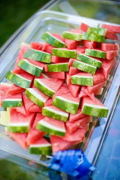 whats for afternoon tea in our house? WATERMELON!