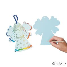 Magic Color Scratch Angel Ornament. You make this angel's gown colorful! Just scratch designs onto her dress with a scratching tool then hang these Magic ...