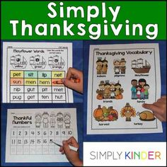 Simply Thanksgiving is filled with academic printables for kindergarteners!