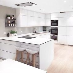 "4,195 Likes, 35 Comments - Immy + Indi (@immyandindi) on Instagram: ""The lovely white Nordic kitchen of @frujosefsen """