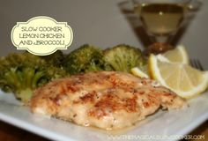 Slow Cooker Lemon Chicken with Broccoli - This lemon chicken is seriously the best chicken dish you will ever make. I struggle to find healthy recipes that I actually crave. This chicken is so tangy and tender. I have made it 3 times in the last 2 weeks! It is easy to clean up, since you shake the chicken with the seasonings in a ziplock bag. You add your favorite veggie on top of the chicken during the last hour of cooking.