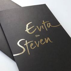 Hot foil & rock 'n roll    #wedding #invitation #cartette #graphicdesign #grafischontwerp #hotfoil #dslettering #nothingisordinary