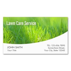 lawn care modern spring green business card - Lawn Service Business Cards