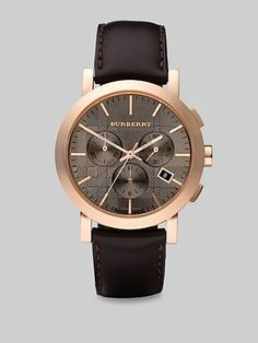 Burberry Classic Chronograph Watch/Strap