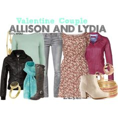 Sooooooo I just found this and it is like looking at the two perfect outfits that describe my two style sides <3