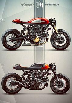 カッコいいDUCAのカスタムイラストもいっぱい! Holographic Hammer ( オートバイ ) - チャレンジ749R - Yahoo!ブログ