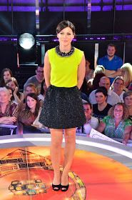 Johanna Payton - Fashion Detective: Emma Willis neon top and black skirt