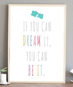 This 'Dream It' Print by Fresh Words Market is perfect! #zulilyfinds