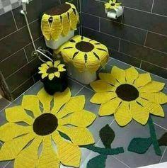 Lindos jogo de banheiro em crochê.