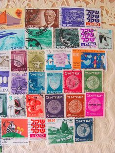 Shalom 50 Vintage Postage Stamps Holy Land Israel by preciousowl, $4.00