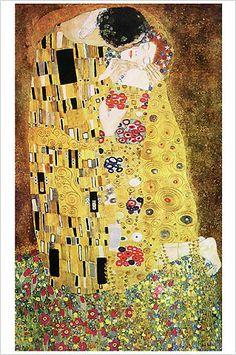 The Kiss (Der Kuss) by Gustav Klimt. Poster The Kiss by Gustav Klimt Art Print Poster Kiss Painting, Painting Prints, Abstract Paintings, Oil Paintings, Art Klimt, The Kiss, Framed Art Prints, Poster Prints, Art Nouveau