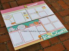 Cute CTMH Ice Cream Dream layouts by Lynn Como