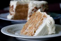 momofuku milk bar-inspired carrot layer cake w/ cinnamon liquid cheesecake filling & cream cheese frosting Baking Recipes, Cake Recipes, Dessert Recipes, Yummy Treats, Sweet Treats, Yummy Food, Carrot Recipes, Sweet Recipes, Artisan Food