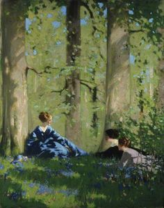 Spring in the Birch Wood - George Henry (British,1858-1943)