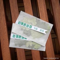 Kleeblätter - Glück to go - ein Designerstück von Papeteriewithlove bei DaWanda