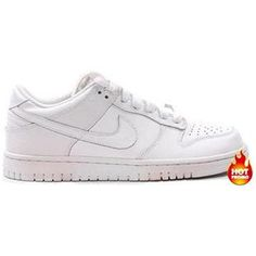 wholesale dealer 2330f bfdbc Mens Nike Dunk Low (GS) (WHITE - WHITE)