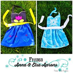 Frozen Inspired Elsa and Anna Aprons | Free Time Frolics #frozen #diy #monthofdisney