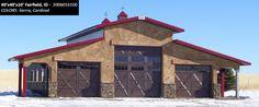 40' x 40' x 10' Cleary Suburban Building   Colors: Sierra, Cardinal