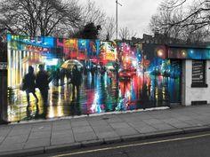 Streetart News [wall – DANK (Inghilterra) a Londra Dartmouth Park, Street Wall Art, Artist Materials, Mixed Media Artwork, Mural Painting, Paintings, Chalk Art, Street Artists, Art Plastique