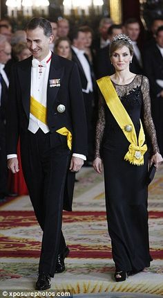 The gala dinner was held at the Royal Palace in Madrid
