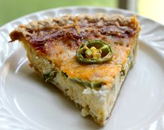 I love Quiche.....I make Quiche, and now...I shall have to attempt this Jalapeno Quiche...YUM!