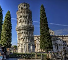 """The """"Leaning Tower of Piza"""" in Italy"""