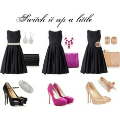 """Switch it Up"" by anne-ratna on Polyvore - LBD - wedding guest evening attire ideas"