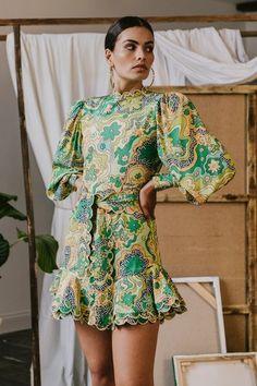 Orquidea Dress Green | CeliaB