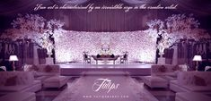 Beautiful pakistani wedding stage design by tulips events managements in Lahore…