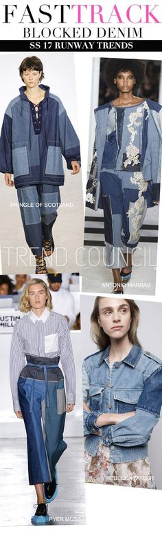 TRENDS // TREND COUNCIL - WOMEN'S / BLOCKED DENIM . SS 2017