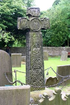 century cross at Eyam (section missing) with interlace; see here for face… Tudor History, European History, British History, Art History, Sutton Hoo, Rune Stones, Anglo Saxon, Haunted History, Asian History