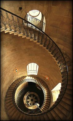 Cantilever staircase in the western bell tower, St. Paul's Cathedral, London, England
