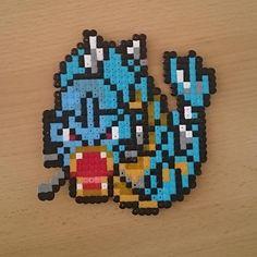 #gyarados  #pokemon #retro #8bit #beads #beadsprite #beadsprites #pearls #handmade #artwork #pixelart #bügelperlen #hamabeads #pixel
