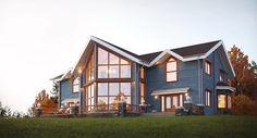 Render Casa de madera en EE.UU / Rendering Timber home in U.S., 2012