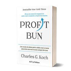 """🤩 NOU! """"Profit bun"""" este cartea pe care o vor citi cu interes toți cei care conduc sau dețin un business. Asta pentru că autorul și totodată CEO-ul corporației Koch Industries își povestește propria experiență în lumea business-ului. """"Profit bun"""" este pe scurt despre necesitatea de a inova permanent în cadrul unei afaceri, și mai ales, despre a oferi valoare clienților prin toate acțiunile pe care le întreprinzi. Cartea are 20% reducere până pe 06.08 inclusiv!"""