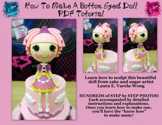 How To Make A Button Eyed Doll PDF by KrazyKoolCakeDesigns on Etsy, $15.00