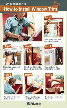 DIY Tutorial: How to Install Window Trim.