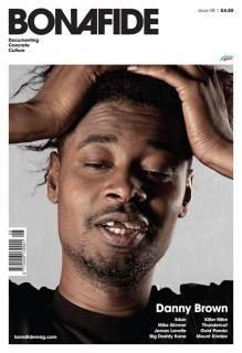 """Danny Brown front cover portrait shot by Jimmy Mould. Cover Bonafide magazine: """"a music and art design magazine"""" Editor in chief David Kane Danny Brown, Mike And Mike, Big Daddy, Portrait Shots, Magazine Design, Editorial Design, Black And White, Magazine Covers, Poster"""
