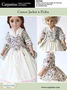 """13 different printed paper patterns ~ each in two popular 18"""" doll sizes: one fits American Girl dolls and similar sizes, and the other fits the slim Carpatina dolls and Magic Attic dolls"""