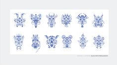 PLAYING CARDS: Blue & White Porcelain on Behance