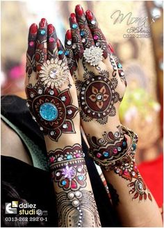 Colourful Mehndi for your hands. A must try.