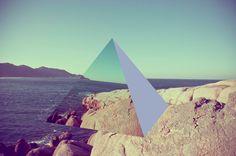 David Copithorne - 3D Prismatic shapes over Brazilian landscapes   via livefastmag.com   #Art #DavidCopithorne