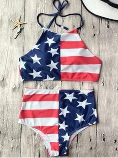 8aeb285c2f Bikinis | 2019 Bikini Sets, Bottoms & Tops, Two Piece Swimsuits. Zaful  BikinisUsa BikiniHalter BikiniBikini TopAmerican Flag SwimsuitPatriotic ...