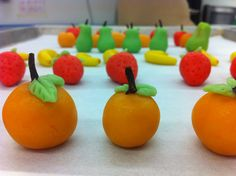 My first attempt at marzipan fruit!