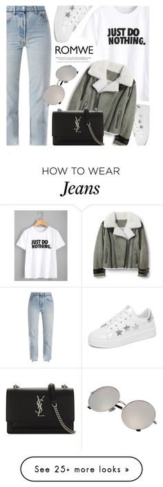 """20:11"" by monmondefou on Polyvore featuring Vetements and Yves Saint Laurent"