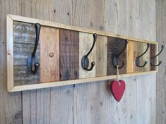 Use Pallet Wood Projects to Create Unique Home Decor Items – Hobby Is My Life Pallet Coat Racks, Rustic Coat Rack, Pallet Shelves, Pallet Cabinet, Cabinet Plans, Reclaimed Wood Furniture, Diy Pallet Furniture, Rustic Furniture, Pallet Sofa