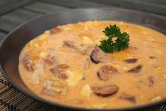 Jókai bableves Hungarian Recipes, Hungarian Food, Food Network, Cheeseburger Chowder, Hummus, Mashed Potatoes, Paleo, Pork, Ethnic Recipes