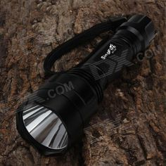 SingFire SF-C8 LED 450lm 5-Mode Warm White Memory Flashlight - Black (1 x 18650). Crenellated strike bezel for enhanced self-defense. CREE XM-L T3 bulb, warm white light color, color temperature 3000K. Adopting solid copper point contacting on head and tail to ensure good electrical conduct.. Tags: #Lights #Lighting #Flashlights #LED #Flashlights #18650 #Flashlights