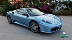 Ferrari F430 – Metallic Dove Blue – Metalik Güvercin Mavi – SCU Şerit – FolioPlus Profesyonel Araç Kaplama Merkezi Ferrari F430, Car Wrap, Metallica, Cars And Motorcycles, Wrapping, Vehicles, Blue, Cars, Packaging